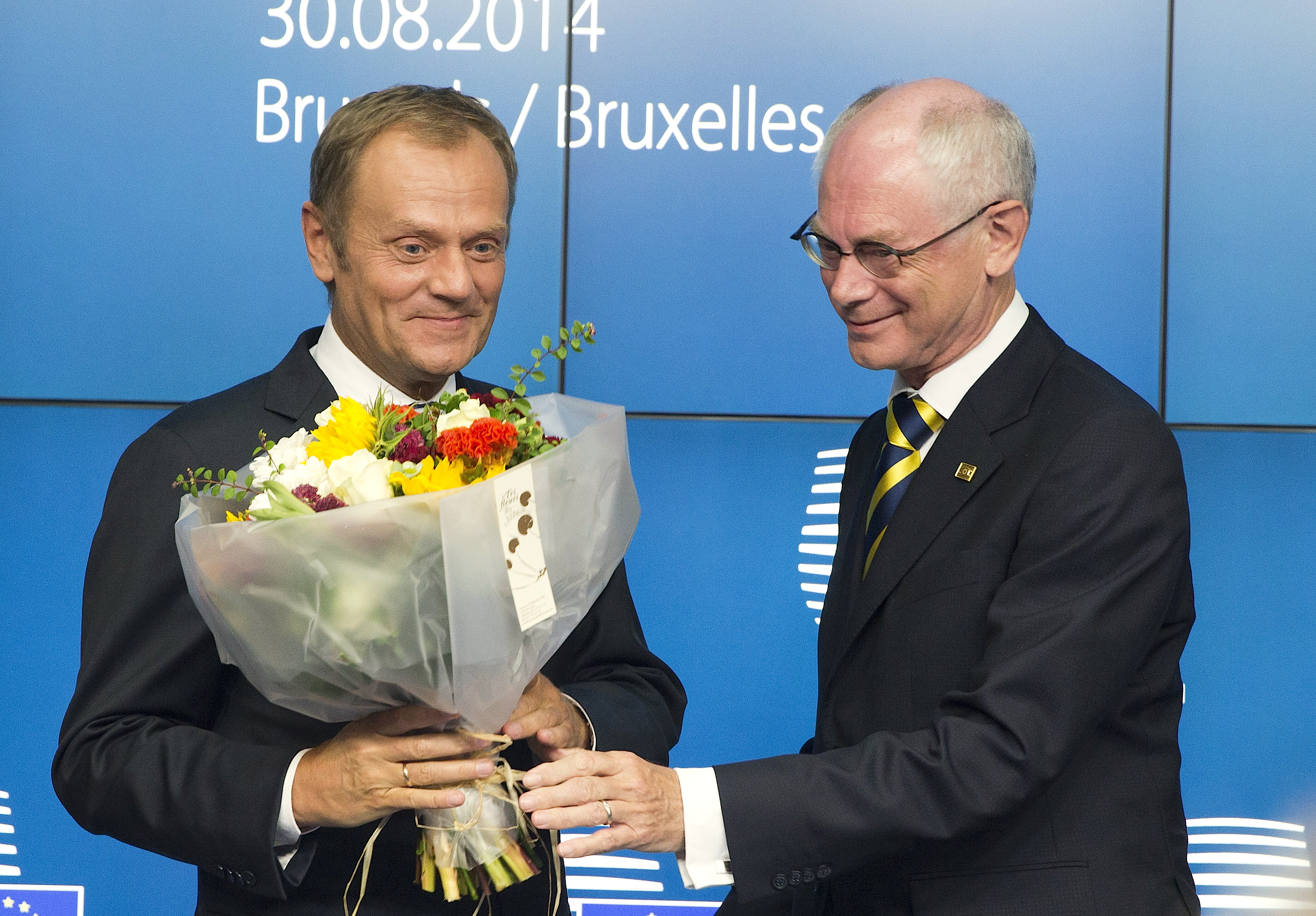 Donald Tusk and Herman Van Rompuy
