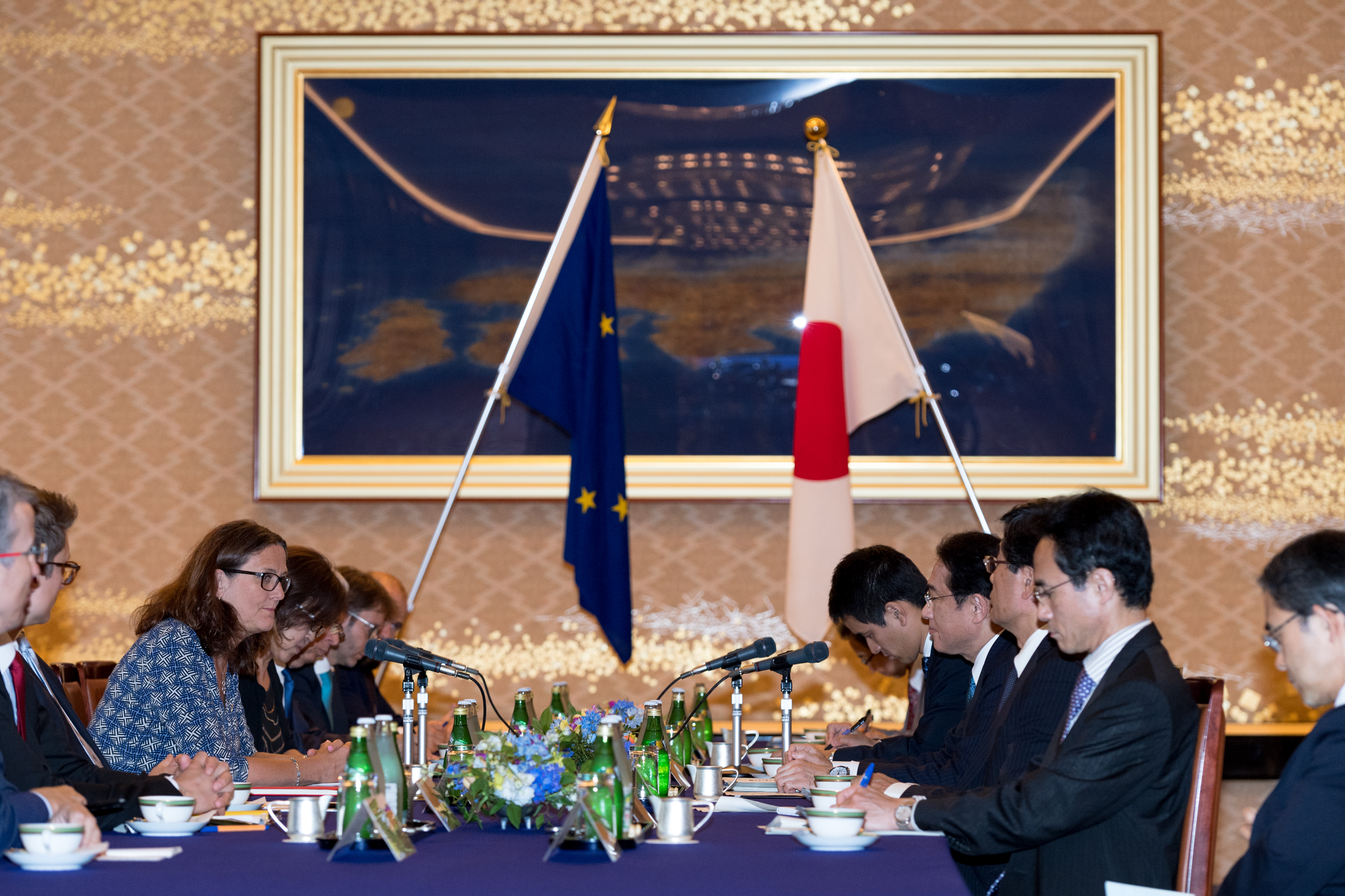 The Ashi Shimbun: Japan, EU said near agreement on trade pact