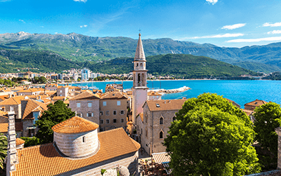 Paketabholung in Montenegro