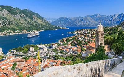 Entrega de paquetes a Montenegro