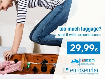 too much luggage? send it with eurosender.com