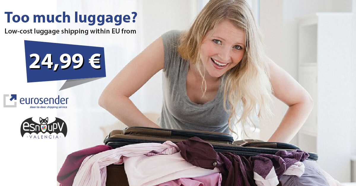 too much luggage send it now from Spain to other EU country chipper