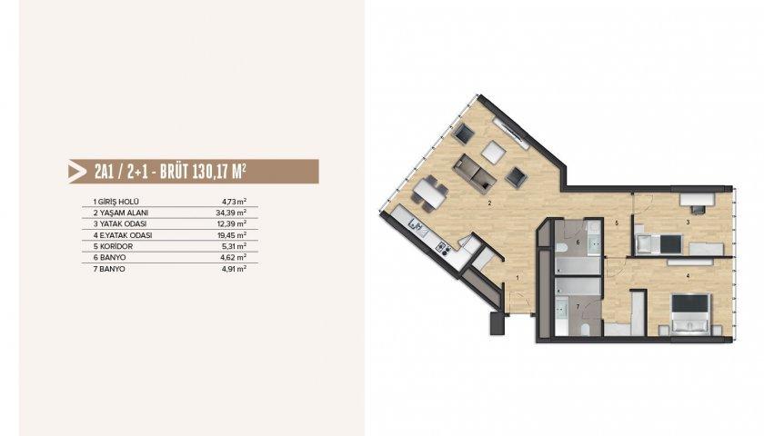 Yenitepe Kadıköy 2+1. kat görseli