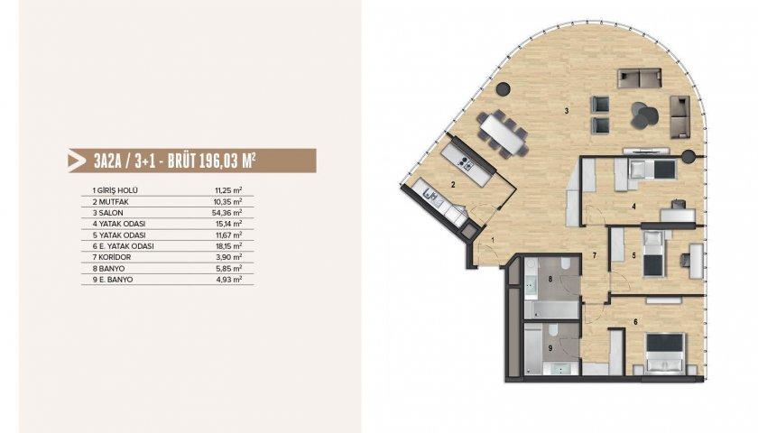 Yenitepe Kadıköy 3+1. kat görseli