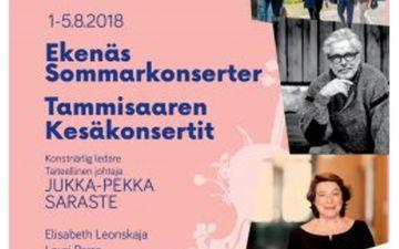Tammisaaren Kesäkonsertit 1.- 5.8.2018