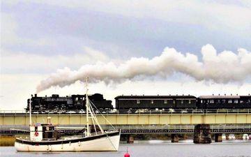 Steam Train in Raseborg