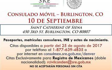 Consulado Móvil en Burlington, CO