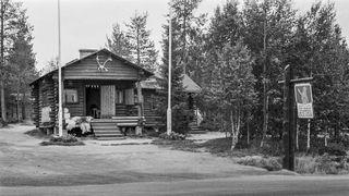 Rooseveltin maja eli Napapiirin vanha maja 1960 -luvulla.