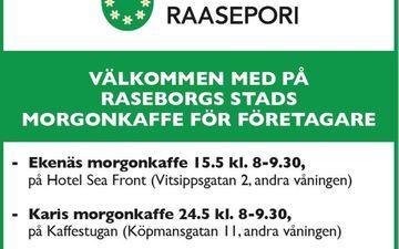 Raaseporin kaupungin yrittäjäkahvit / Karjaa
