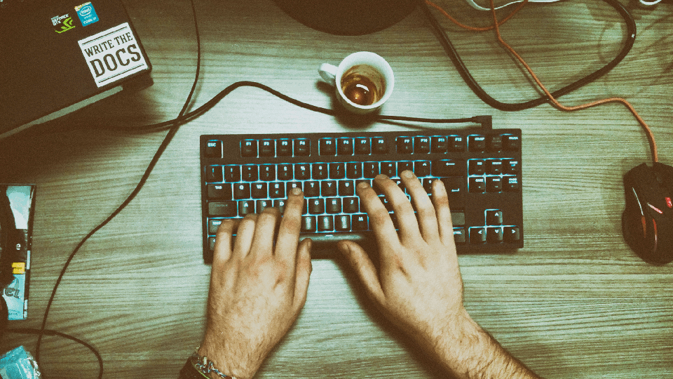 working on dot keyboard