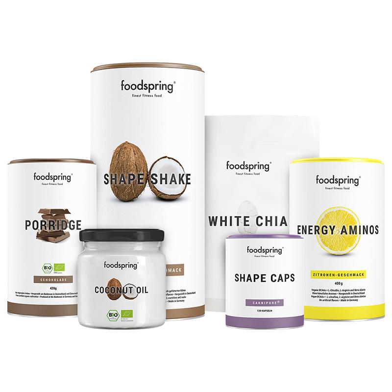 Abnehm-Paket Pro - Mit Shape Shake Cocos Crisp & Porridge Schokolade. Inkl. gratis Guide!