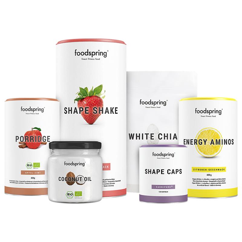 Abnehm-Paket Pro - Mit Shape Shake Erdbeere & Porridge Apfel-Zimt. Inkl. gratis Guide!