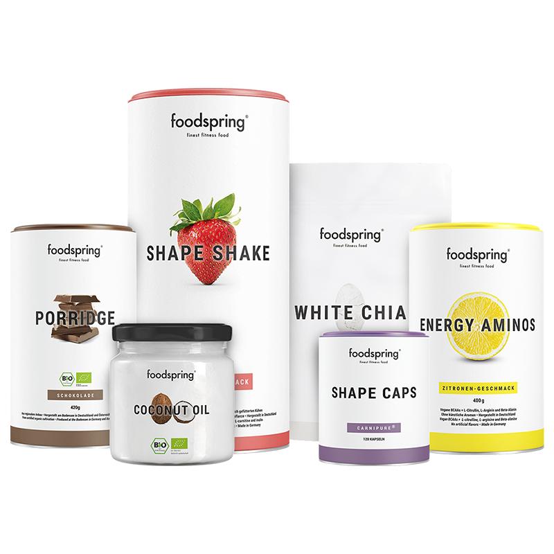 Abnehm-Paket Pro - Mit Shape Shake Erdbeere & Porridge Schokolade. Inkl. gratis Guide!