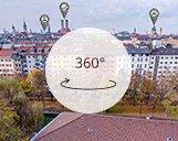 Kugelpanorama der Praterinsel in München
