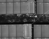 Infrarotbild einer Photovoltaikanlage mit Bypass Schäden und einer Erklärung