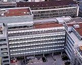 Luftbild des Ex-Allianz Gebäudes in Zürich