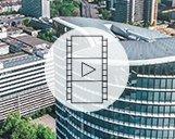 Drohnenvideo des Sky Office in Düsseldorf mit Außen- und Innenaufnahmen