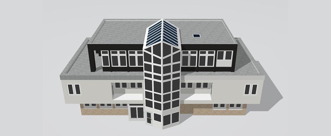 3D-Modell von einem Gebäude in Köln