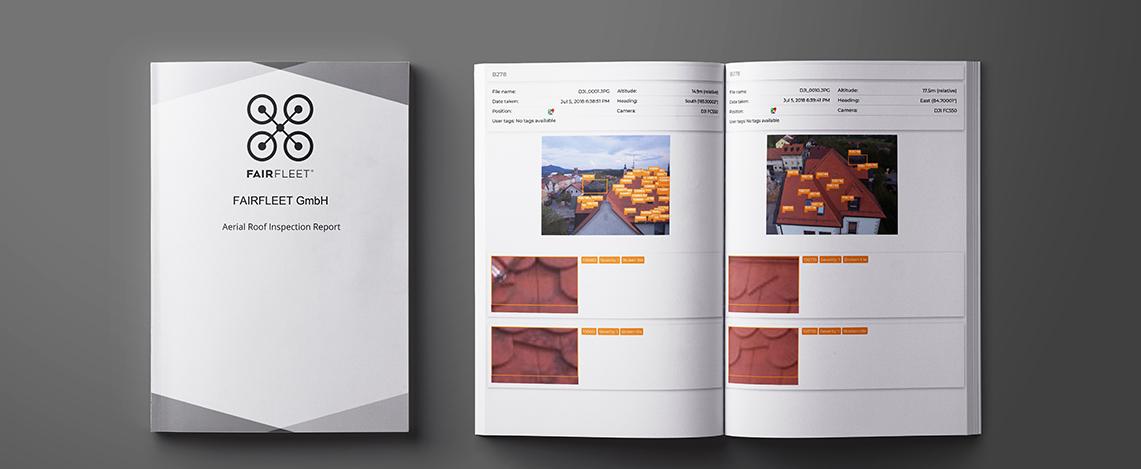 Beispiel für einen Report von einer Dachinspektion inklusive Analyse der Aufnahmen