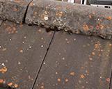 Nahaufnahme eines Dachgiebels