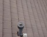 Nahaufnahme eines Daches aus der Vogelperspektive