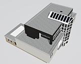 Ein Gebäude aus Köln als 3D-Modell von schräg oben