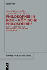 Philosophie in Rom - Römische Philosophie?