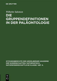Die Gruppendefinitionen in der Paläontologie