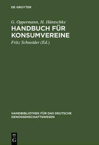 Handbuch für Konsumvereine