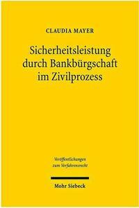 Sicherheitsleistung durch Bankbürgschaft im...