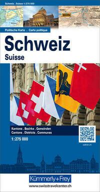 Schweiz Politische Karte 1:275'000