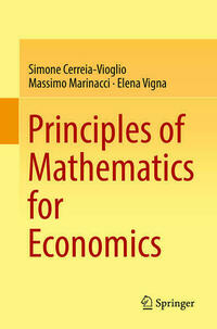 Principles of Mathematics for Economics