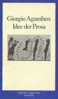 Idee der Prosa