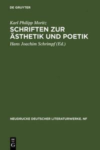 Schriften zur Ästhetik und Poetik