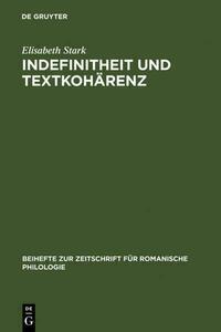 Indefinitheit und Textkohärenz