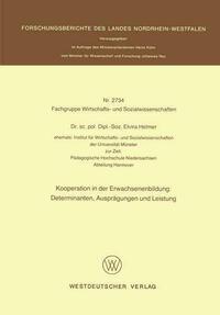 Kooperation in der Erwachsenenbildung: Determinanten, Ausprägungen und Leistung