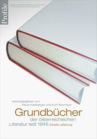 Profile 20, Grundbücher der österreichischen Literatur. Zweite Lieferung