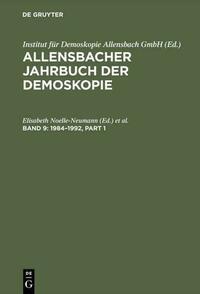 Allensbacher Jahrbuch der Demoskopie / 1984–1992