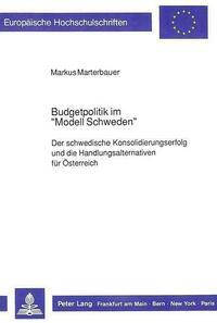 Budgetpolitik im «Modell Schweden»