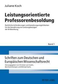 Leistungsorientierte Professorenbesoldung
