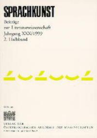 Sprachkunst. Beiträge zur Literaturwissenschaft / Jahrgang XXX/1999