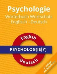 Psychologie Wörterbuch Wortschatz Englisch - Deutsch
