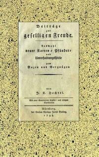 Johann Kaspar Hechtel: Beiträge zur geselligen Freude