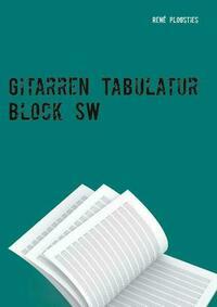 Gitarren Tabulatur Block SW