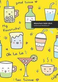 München liebt dich, schreibe in Notizbuch, 180 Seiten, breitere gepunktete Linien, Ringbindung (Buch 1)