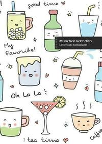 München liebt dich, schreibe in Notizbuch, 180 Seiten, breitere gepunktete Linien, Ringbindung (Buch 2)