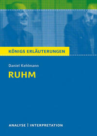 Ruhm von Daniel Kehlmann.