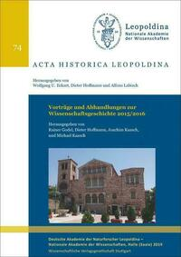 Vorträge und Abhandlungen zur Wissenschaftsgeschichte 2015/2016