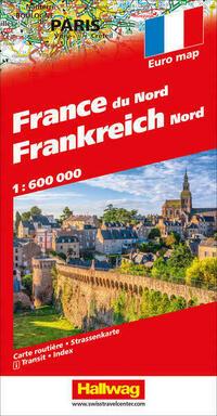 Frankreich Nord Strassenkarte