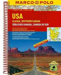MARCO POLO ReiseAtlas USA, Alaska, Südliches Kanada 1:4 000 000